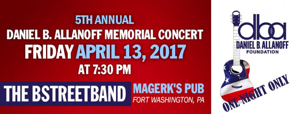 Fri April 28 – Daniel Allenoff Fundraiser – Fort Washington,  PA