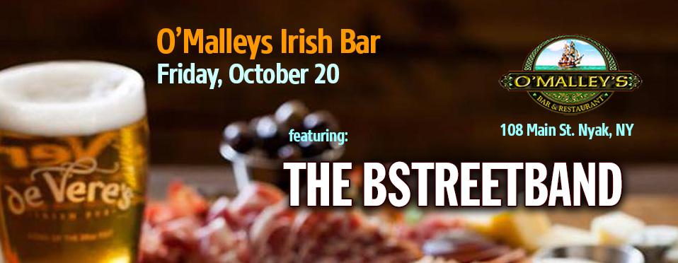 Fri. Oct. 20 – O'Malley's Pub – Nyack, NY