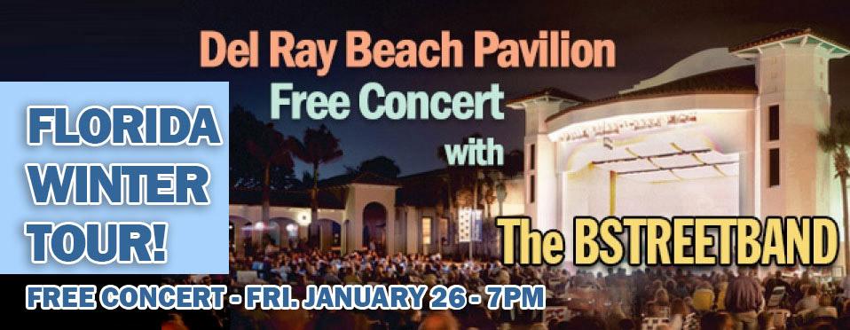 Fri. Jan 26 – Del Ray Beach, FL – Concert in the Pavilion